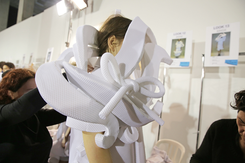 Backstage at Viktor & Rolf Couture Spring 2016