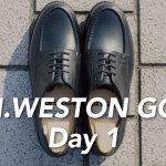 J.M.WESTON #641 GOLF 履き慣らし記録【1日目】