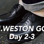 J.M.WESTON #641 GOLF 履き慣らし記録【2-3日目】