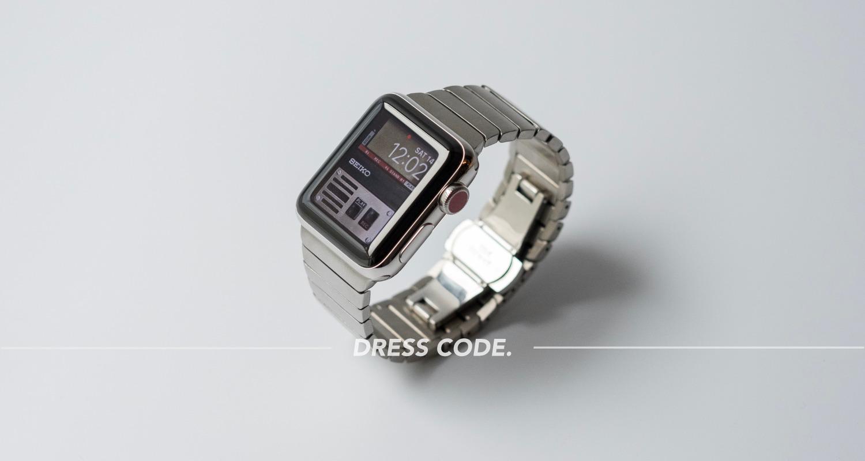 L&L製Apple Watch用ステンレス交換バンドレビュー – 純正リンクブレスレットを諦めた全ての人に。